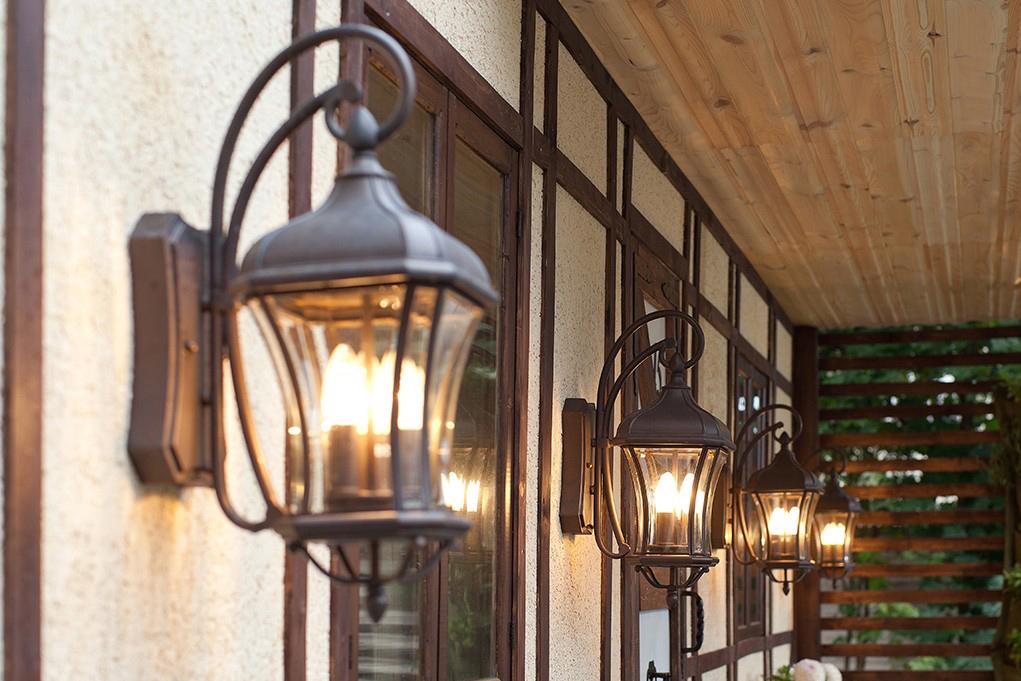 Външни стенни светлени